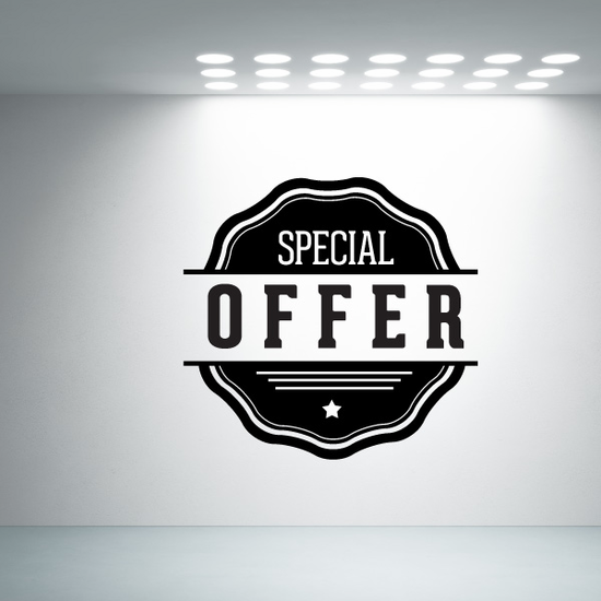 Special Offer Wall Decal - Vinyl Decal - Car Decal - Id023