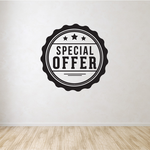 Special Offer Wall Decal - Vinyl Decal - Car Decal - Id025