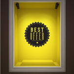 Best Offer Wall Decal - Vinyl Decal - Car Decal - Id033