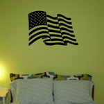 Windswept America Flag Decal