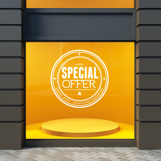 Special Offer Satisfaction Guaranteed Wall Decal - Vinyl Decal - Car Decal - Id045