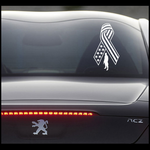 Flag Ribbon Soldier Standing Decal