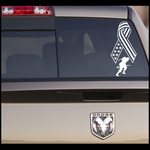Flag Ribbon Soldier Running Decal