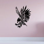 Native Wild Eagle Hunting Decal