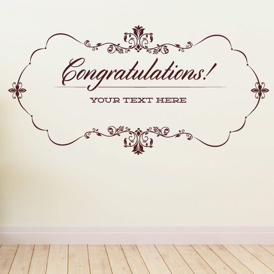 Congratulations Wall Decal - Vinyl Decal - Car Decal - Id079 - Customize Me