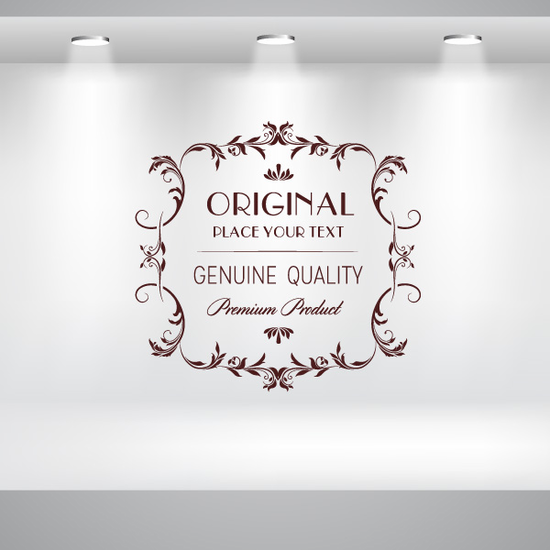 Original Genuine Quality Premium Product Wall Decal - Vinyl Decal - Car Decal - Id084 - Customize Me
