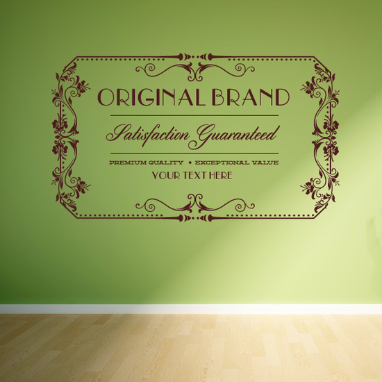 Original Brand Satisfaction Guaranteed Premium Quality Exceptional Value  Wall Decal - Vinyl Decal - Car Decal - Id085 - Customize Me