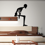 Skeleton Sitting Decal