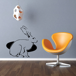 Rabbit and Hole Decal