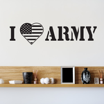 I Love the Army Decal