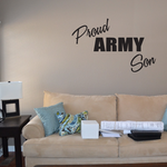 Proud Army Son Block Decal