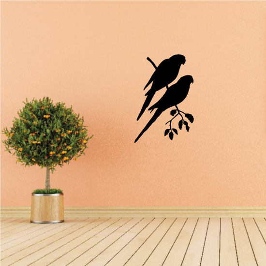 Parrot Pair on Branch Decal