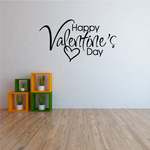 Happy Valentine's Day Script Decal