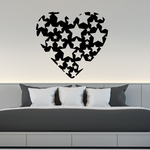 Heart with Stars Decal