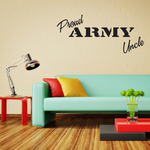 Proud Army Uncle Decal