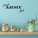 Proud Army Aunt Decal