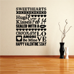 Valentines Day Typography Decal
