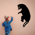 Climbing Raccoon and Looking Over Decal