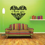 Damascan I Love You Heart Frame Decal