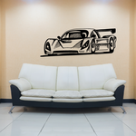 Detailed Endurance Race Car Decal