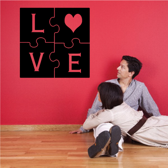 Love Puzzle Valentines Day Decal
