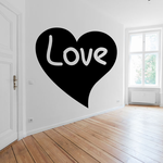 Valentines Day Love Text Heart Decal