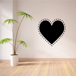 Dotted Line Heart Valentine's Day Decal