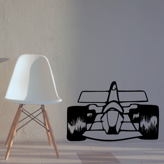 Cartoon Formula One Car Decal