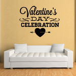 Valentines Day Celebration Heart Arrow Decal