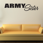 Army Sister Block Decal