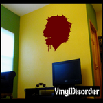 Drooling Zombie Head Decal