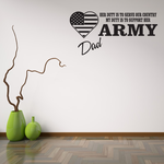 Her Duty Army Dad Decal