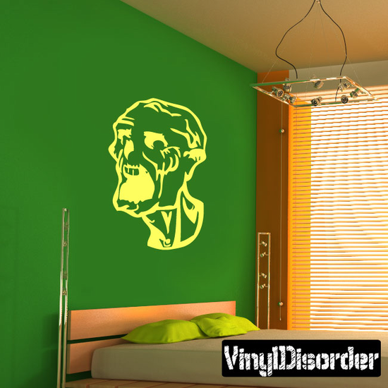 Screaming Zombie Head Decal