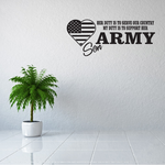 Her Duty Army Son Decal