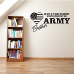 His Duty Army Brother Decal