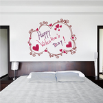 Happy Valentines Day! Swirl Style Frame Decal
