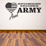 His Duty Army Aunt Decal