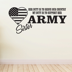 Her Duty Army Sister Decal
