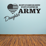 His Duty Army Daughter Decal