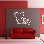 I Heart You Underline Valentine's Day Decal