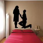 Valentines Day Lovers Proposal Decal