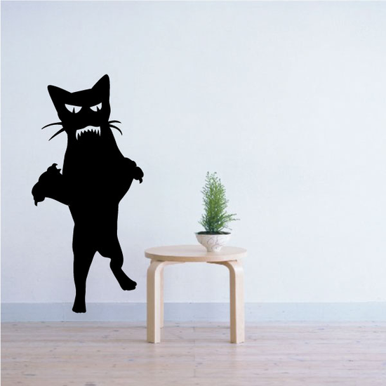 Zombie Cat Attack Decal