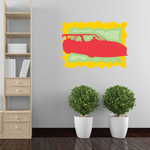 Red And Yellow Race Car Sticker