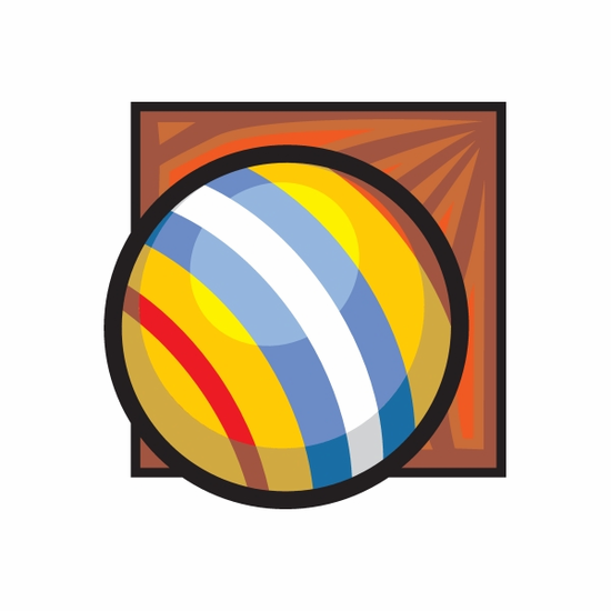 Red Yellow Blue and White Bocce Ball Sticker