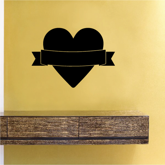 Heart with Ribbon Banner Valentine's Day Decal