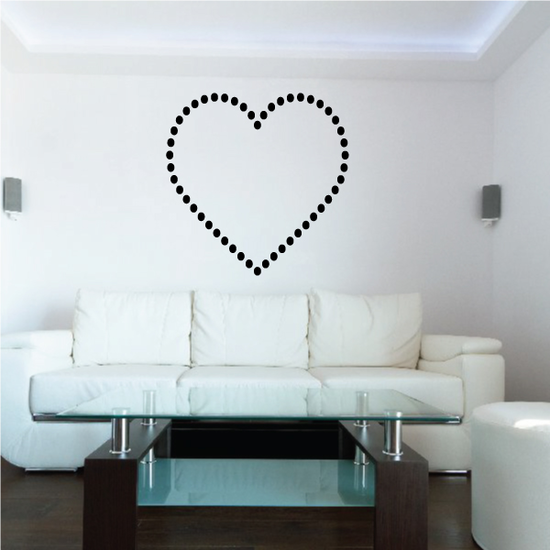 Dot Hearts Valentine's Day Decal
