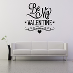 Be My Valentines Day Elegant Decal