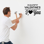 Statement Happy Valentines I Love You Decal