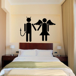 Valentines Day Devil and Angel Decal