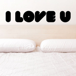 Bubble Text Valentines Day I Love You Decal